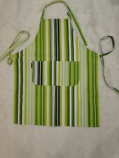 100% Cotton Green Stripe Print Canvas Apron 70x86cm