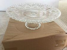 Glass Cake Plate 23cms