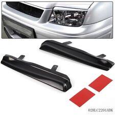 Pair Mean Look Upper Headlight Cover Eyelids For VW JETTA MK4 99-05