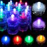 12/ 24/ 36 PCS Multicolor Submersible LED Lights Waterproof Wedding Party Decor