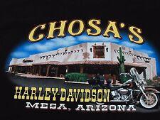 Harley Davidson XL TShirt Mens Black Mesa AZ Chosas Stratman Made in USA EUC