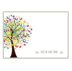 NOTE CARDS 10 + envelopes, personalised writing note paper, message / blank sc03