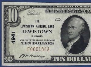 IL 1929 $10   ♚♚LEWISTOWN,ILLINOIS♚♚ PCGS CHOICE NEW 63 PPQ  BEST KNOWN!!!