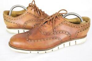 Cole Haan Men's ZeroGrand Wingtip Oxford Leather British Tan C23741 Size 8 M