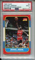 Michael Jordan Rookie Card 1986 Fleer Basketball RC Replicate PSA 9 '96 Decade