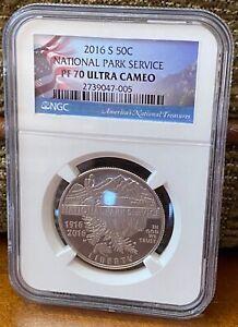 2016 Silver P 50C U.S. Mint National Park Service Centennial PF 70 Ultra Cameo