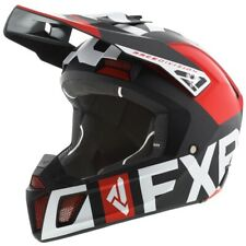 FXR Clutch Evo Winter Snowmobiling Race Division Helmet - Black, Red, & White