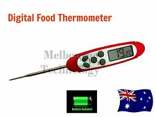 Digital Waterproof Food Thermometer w/ Antimicrobial Sleeve + Calibration Funct.