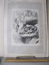 Vintage Print,CARL SCHURZ,Th.Nast,Harpers,Political Cartoons