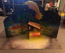 2002 Playmobil Christmas Nativity 5719 Replacement Manger Background Complete