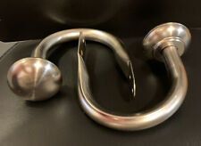 Brushed Nickel Drapes Curtain Hold Backs Finial Set of 2 Never Used