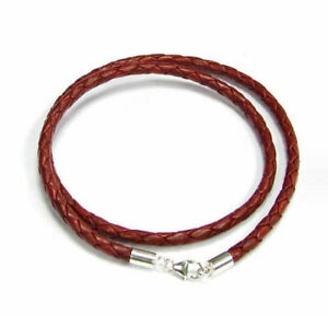 Sterling Silver leather cord 3mm choker necklace for European Bead Charms