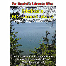 MT Desert Island Acadia Nat Park Maine Cycling Scenery DVD Virtual Bike Ride