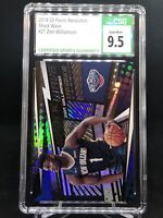 🔥🏀 2019 Revolution Shock Wave #21 Zion Williamson RC Rookie CSG 9.5 PSA/BGS