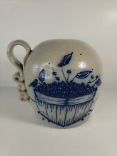 Salmon Falls Blueberry Basket Pottery Stoneware Jug - Country Collectible Gift