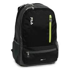 NWT FILA Nexus Laptop Backpack Black Book Bag School Pack Computer Tablet NEW