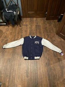 NWT VTG 90s Majestic Dallas Cowboys Varsity Snap up Sweatshirt Jacket Mens L
