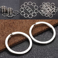 10Pcs  Metal Key Holder Split Rings Keyring Keychain Keyfob DIY Wholesale 25mm