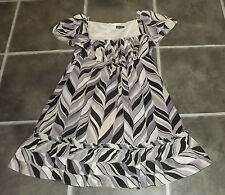 LADIES WAREHOUSE UK 12 EUR 40 LILAC BEIGE BLACK GREY WHITE 100% COTTON TEA DRESS