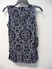 NWT Women's Rock & Republic Viper Vixen Black White Blue Tank Top Size XS $44