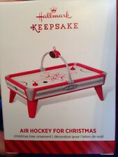 Hallmark Air Hockey Table For Christmas Ornament NIB