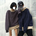 2016 Korean Ulzzang Two-Piece-Like Coat Color Matching Lovers' Hoodie Wool Plus