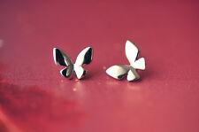 Ohrstecker Schmetterling aus 925 Sterling Silber 11 mm breit