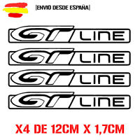 GT LINE 308 208 SPORT PEUGEOT kit de 4 STICKER VINIL DECAL 12CM