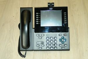 Cisco CP-9971-C-K9 Unified IP Phone 6 Line Colour USB SIP w/ CP-CAM-C & Stand