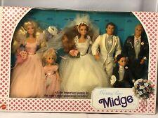 1990 Mattel Barbie Wedding Party Midge Gift Set NRFB Damaged Box