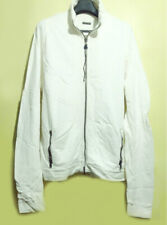 Patrizia Pepe Italy Ecru Cotton Zipped Jacket