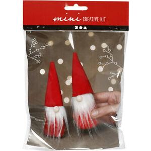 Christmas Gnomes or Gonks Sewing Craft Kit | DIY Decoration