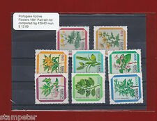 1981 Portugese Azores Flowers SG 429/40 Uncompleted Set 8 stamps MUH