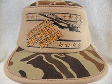 Operation Desert Storm Vintage 90's Camouflage Trucker Snapback One Size Fit Hat