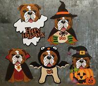 "Bulldog Halloween 4 "" Magnet Set (set of 5)"