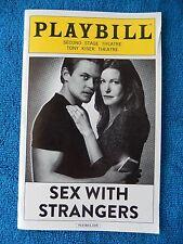Sex With Strangers - Second Stage Theatre Playbill - August 2014 - Anna Gunn