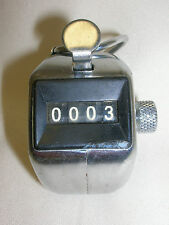 Tally Hand Held Palm Counter Clicker Lutz Manual 4 Digit Tracking Mechanical