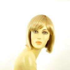 Perruque femme courte blond doré méché blond très clair  BRENDA 24BT613