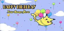 Birthday banner Personalized 4ft x 2 ft  Pokemon Pikachu