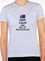 KEEP CALM AND GO TO AUSTRALIA - Australian / Novelty / Fun Themed Womens T-Shirt