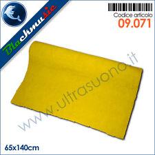 Moquette acustica adesiva giallo 65x140cm per interni, subwoofer e pianali