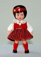 1970 Ussr Soviet Estonian Souvenir Salvo Folk Brunet Doll Rare
