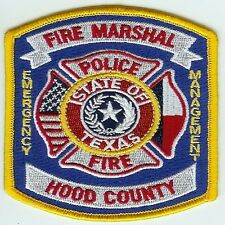 HOOD COUNTY TEXAS FIRE MARSHAL EMERGENCY MANAGEMENT PATCH