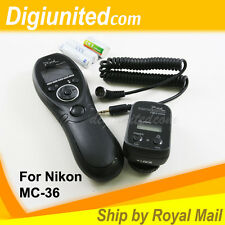 Pixel Wireless Timer Remote Control Shutter for Nikon MC-36 D3 D4 D300 D700 D800