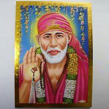 Altarbild Sai Baba Shirdi, Prägedruck Indien Hinduismus Bild Guru Om Puja 7
