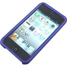 Blue Hard Rubber Cover Case For iPod Touch 4 4G iTouch