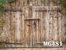Rustic Wooden Barn Door Polyester Backdrop Photo Background 7x5FT Studio Props