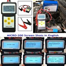 12V Autos Battery Load Tester 30-200Ah Auto Vehicle Battery Analyzer AGM CCA GEL