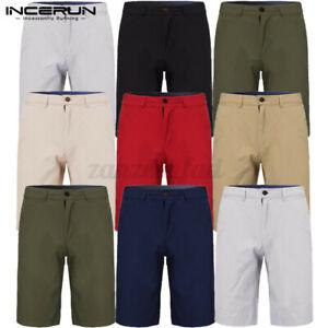 Mens Chino Shorts 100%Cotton Cargo Holiday Formal Half Causal Smart Pants UK