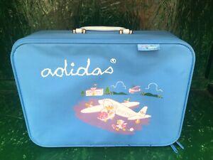 Adidas Junior Team Airliner Bag Rare Vintage 80s BabyBlue